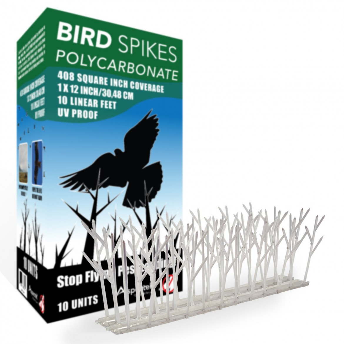 bird spikes - the woodpecker remover